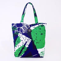 TANSAN Tote Bag L 「Ishi」blue green