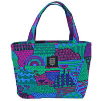Mini tote Bag 「YAMANAMI」purple