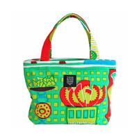 Mini tote Bag 「welcome fruits」green