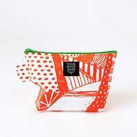 Machi Pouch Mサイズ「散歩道」orange