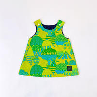 Bi TANSAN Kids Tunic「Yamanami」green