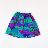 Bi TANSAN Short Skirt「Yamanami」purple