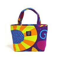 Mini tote Bag「うずまきフラワー」purple