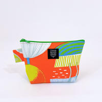 Machi Pouch M「Lamp Flower」orange