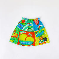 Bi TANSAN Short Skirt「Welcome Fruits」green