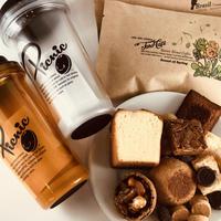 タンブラーとお菓子とコーヒー豆(TAROBLEND&GUATEMALA)