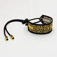 RONER embroidery bracelet / Arabesque BLACKxGOLD