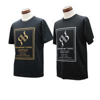 RONER SPORT box logo dry T-shirt   GOLD / SILVER