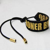 RONER embroidery bracelet / logo GOLD