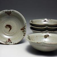 中里太郎右衛門窯 絵唐津銘々皿(D-16) 5枚組