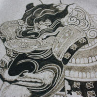 中里太郎右衛門窯 絵唐津皿 十番曳山 上杉謙信の兜