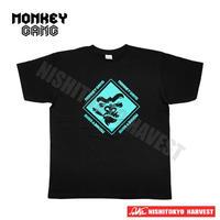 【3-2】MONKEY GANG エレクトロロジック デザイン Tシャツ 【ブラック】