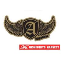 ANGELWAX ステッカー ゴールド×ブラック W70×H35 【B1】