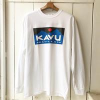 KAVU    スクエアロゴ  L/S  TEE