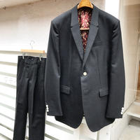 Y.O.N.    BRITISH WOOL TWOPIECE SUITS / BLACK