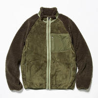 meanswhile Behavior Fleece Jacket     KHAKI