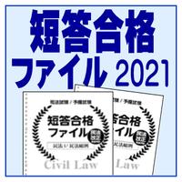 短答合格ファイル【商法・民訴・刑訴・行政4科目セット】2021年 21J4