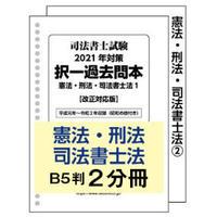 憲法/刑法/書士法2冊セット/司法書士試験<体系別>択一過去問本2021