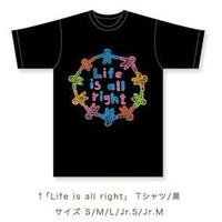 「Life is all right」Tatton  Tシャツ(黒)