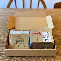 5/18-19日発送分 ねこクッキー缶(YELLOW)と珈琲ドリップバッグのセット