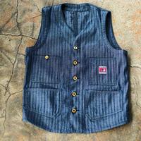 Foreman Vest   8OZ Indigo Herringbone