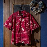 DDK  オープンカラーシャツS/S バンダナ柄  レッド