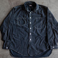 Detachable Collar Work Shirt  Black Wabash