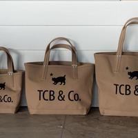 XX DEVELOPMENT and TCB JEANS COAL BAG  Size L  BEIGE