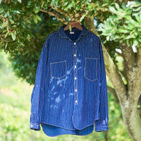 Detachable Collar Work Shirt  Indigo Wabash