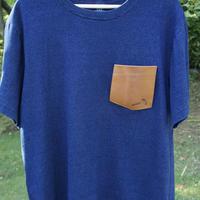 TADPOLE   leather pocket TEE   indigo