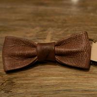 TADPOLE  leather 蝶ネクタイ :BROWN