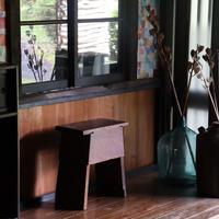 飴色の踏み台/Antique Stool