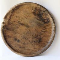 朽ちかけの丸盆/Wooden Tray