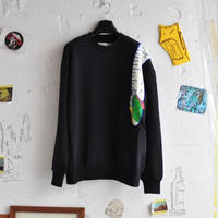 ★ 18AW NEW ! / HENRIK VIBSKOV - SHOULDER TAPE SWEAT (BLACK) ★