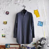 ★ DULCAMARA - ヨークスリーブシャツ(CHARCOAL × NAVY) SIZE 1 ★
