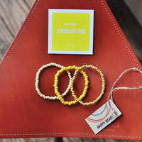 ★ HAPPY BEADS (SWEDEN) / WOOD BEADS  BRACELET (LEMONADE 3本set) ★