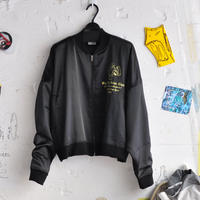 ☆  20SS / WILLY CHAVARRIA  /  SATIN TRACK JACKET (BLACK) ☆(送料無料)