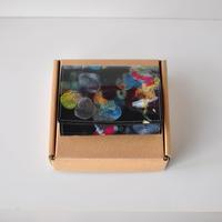 ★ MACROMAURO (マクロマウロ) / paint coin case (BLK MULTI) ★