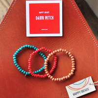 ★ HAPPY BEADS (SWEDEN) / WOOD BEADS  BRACELET (MITCH 3本set) ★