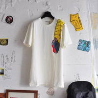 ★ 18AW NEW ! / HENRIK VIBSKOV - SHOULDER TAPE TEE (OFF WHITE) ★