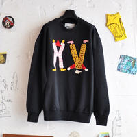 ★ 18AW NEW ! / HENRIK VIBSKOV - HV CHARACTERS SWEAT (BLACK) ★