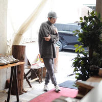 ★o project / loose fit turtle knit (ecru/gray)★