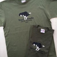 ビーグルイラストTシャツ:う○ちポーズ