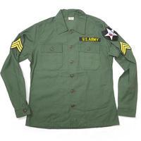 usfs-am15 - USタイプ OG-107 ファティーグシャツ (ARMY ワッペン)【レプリカ】-G- 米軍 ミリタリー 長袖 オリーブ アメカジ