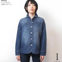 na1409-ny - ニットデニム 丸襟ジャケット ( ネイビー ) Nanea-R- JKT ライトアウター カジュアル アメカジ 紺色 長袖