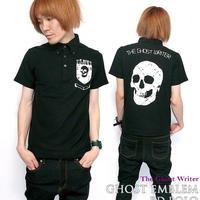 tgw042-bd-po - Ghost Emblem(ゴースト エンブレム)ボタンダウン ポロシャツ - The Ghost Writer -G-