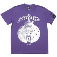 sp006tee-pu - グランジ (grunge) Tシャツ (V.パープル)-G- 半袖 ギター柄 Guitar ロックTシャツ バックプリント 紫色