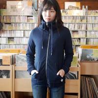 na0874-in -裏毛 ジップアップ ハイネックパーカー ( インディゴ ) Nanea-R- スウェット カジュアル アメカジ 紺色 長袖