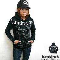 特別プライス☆ hw005pk - bambi rock フーデット ライトパーカー -G- ロック スウェット バンド