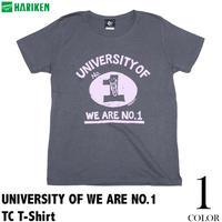 廃盤(在庫限り) har006tc - UNIVERSITY OF WE ARE NO.1 TC Tシャツ - HARIKEN -G- カレッジプリント アメカジ ロック ROCK 半袖